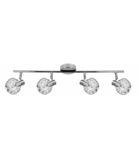 COLLAR LAMPA SUFITOWA LISTWA 4X40W G9 CHROM Candellux 94-13743