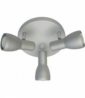 PICARDO LAMPA SUFITOWA PLAFON 3X40W E14 SZARO SREBRNY Candellux 98-44242