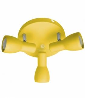 PICARDO LAMPA SUFITOWA PLAFON 3X40W E14 MUSZTARDOWY Candellux 98-52414