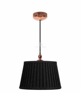 AMORE LAMPA WISZĄCA 1X60W E27 STOŻEK CZARNY Candellux 31-39378