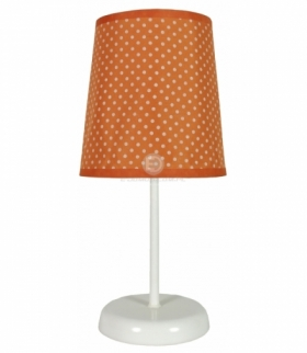 GALA LAMPA 1X40W E14 POMARAŃCZOWA W KROPKI
