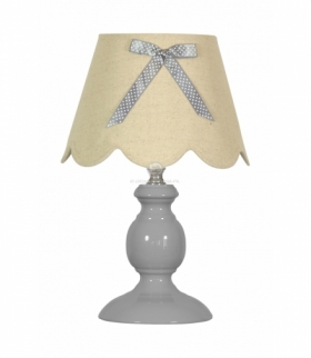 WHILMA LAMPA 1X40W E14 SZARY