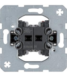 one.platform Łącznik żaluzjowy 2-klawiszowy przyciskowy,  1-bieg., mech. samozac.  Berker 53503520