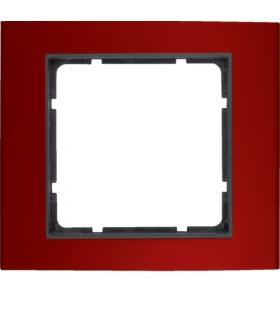 B.3 Ramka 1-krotna, alu, czerwony/antracyt Berker 10113012