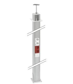 Element przedłużający do kolumn dwustronnych ALK dł.1,5m aluminium ALK22P15/8
