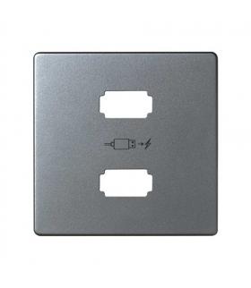 Pokrywa do ładowarki USB aluminium 8221096-093