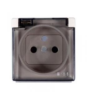 Pokrywa do gniazda wtyczkowego z uziemieniem - do wersji IP44- klapka w kolorze transparentnym beżowy 82068KD-31