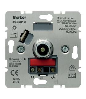 one.platform Ściemniacz obrotowy 60-600 W, mechanizm Berker 286010