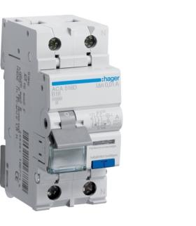 ACA516D RCBO Wyłącznik różnicowoprądowy z członem nadprądowym 1P+N 10kA B 16A/10mA Typ A Hager