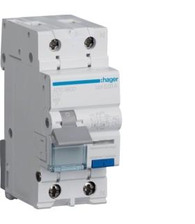 ADC960D RCBO Wyłącznik różnicowoprądowy z członem nadprądowym 1P+N 6kA C 10A/30mA Typ AC Hager