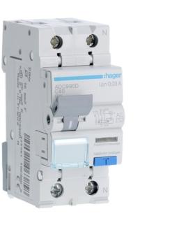 ADC990D RCBO Wyłącznik różnicowoprądowy z członem nadprądowym 1P+N 6kA C 40A/30mA Typ AC Hager
