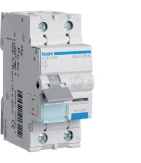 ADH956 RCBO Wyłącznik różnicowoprądowy z członem nadprądowym 1P+N 6kA C 6A/30mA Typ A-HI Hager