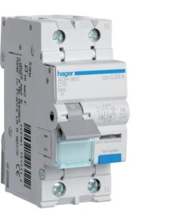 ADH960 RCBO Wyłącznik różnicowoprądowy z członem nadprądowym 1P+N 6kA C 10A/30mA Typ A-HI Hager