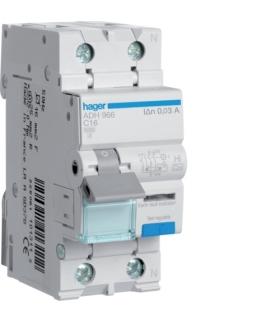 ADH966 RCBO Wyłącznik różnicowoprądowy z członem nadprądowym 1P+N 6kA C 16A/30mA Typ A-HI Hager