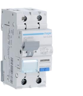 AFA960D RCBO Wyłącznik różnicowoprądowy z członem nadprądowym 1P+N 6kA C 10A/300mA Typ A Hager