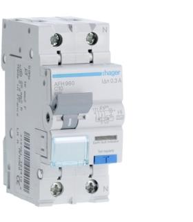 AFH960 RCBO Wyłącznik różnicowoprądowy z członem nadprądowym 1P+N 6kA C 10A/300mA Typ A-HI Hager