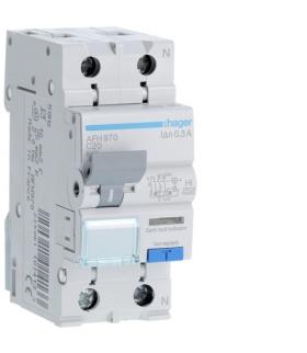 AFH970 RCBO Wyłącznik różnicowoprądowy z członem nadprądowym1P+N 6kA C 20A/300mA Typ A-HI Hager