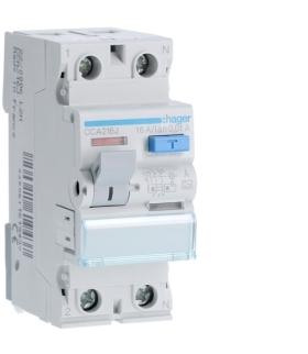 CCA216J RCCB Wyłącznik różnicowoprądowy 1P+N 16A 10mA 6kA A Hager