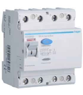 CD484D RCCB Wyłącznik różnicowoprądowy 4P 100A/30mA Typ A Hager