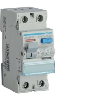 CDA263J RCCB Wyłącznik różnicowoprądowy 1P+N 63A 30mA 6kA A Hager