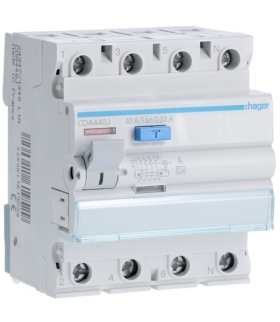 CDA440J RCCB Wyłącznik różnicowoprądowy 3P+N 40A 30mA 6kA A Hager