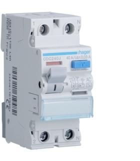 CDC240J RCCB Wyłącznik różnicowoprądowy 1P+N 40A 30mA 6kA AC Hager