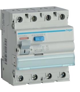 CDC440J RCCB Wyłącznik różnicowoprądowy 3P+N 40A 30mA 6kA AC Hager