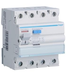 CDC463J RCCB Wyłącznik różnicowoprądowy 3P+N 63A 30mA 6kA AC Hager