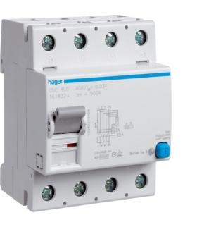 CDC490 RCCB Wyłącznik różnicowoprądowy 4P 125A/30mA Typ AC Hager