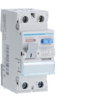 CDH225J RCCB Wyłącznik różnicowoprądowy 1P+N 25A 30mA 6kA HI Hager