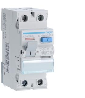 CDH240J RCCB Wyłącznik różnicowoprądowy 1P+N 40A 30mA 6kA HI Hager
