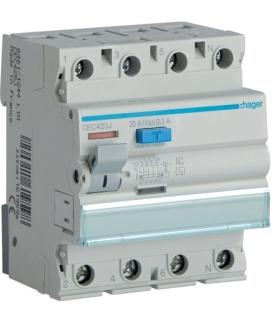 CEC425J RCCB Wyłącznik różnicowoprądowy 3P+N 25A 100mA 6kA AC Hager