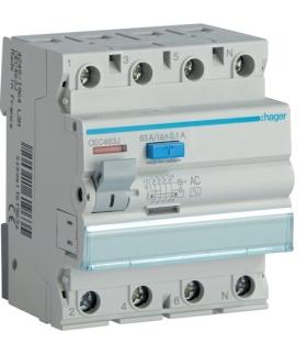 CEC463J RCCB Wyłącznik różnicowoprądowy 3P+N 63A 100mA 6kA AC Hager