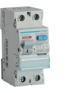 CFA240J RCCB Wyłącznik różnicowoprądowy 1P+N 40A 300mA 6kA A Hager
