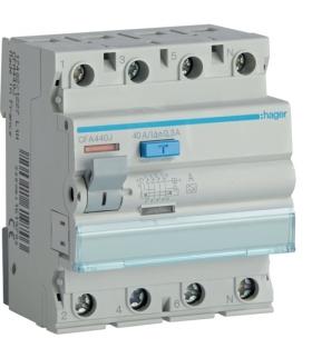 CFA440J RCCB Wyłącznik różnicowoprądowy 3P+N 40A 300mA 6kA A Hager