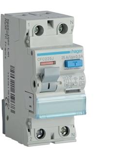 CFC225J RCCB Wyłącznik różnicowoprądowy 1P+N 25A 300mA 6kA AC Hager