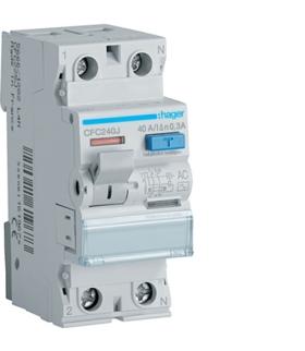 CFC240J RCCB Wyłącznik różnicowoprądowy 1P+N 40A 300mA 6kA AC Hager