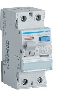 CFC263J RCCB Wyłącznik różnicowoprądowy 1P+N 63A 300mA 6kA AC Hager