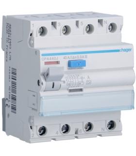 CPA440J RCCB Wyłącznik różnicowoprądowy 3P+N 40A 300mA 6kA A S Hager