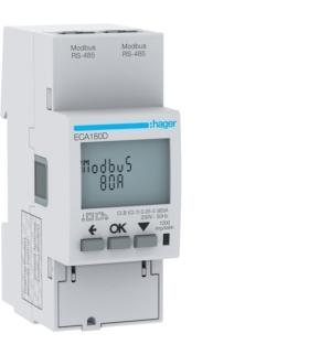 ECA180D Licznik energii elektrycznej 1-fazowy, 80A 2M, AGARDIO, MID Hager
