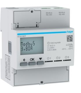 ECA180T Licznik energii elektrycznej 1-fazowy,  3x80A 4M,  AGARDIO Hager