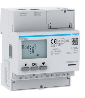 ECA300C Licznik energii elektr. 3-fazowy,  przekł. 1-5A 4M,  AGARDIO,  MID Hager