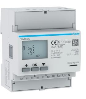 ECM300C Licznik energii elektr. 3-fazowy, przekł. 1-5A 4M, M-bus, MID Hager