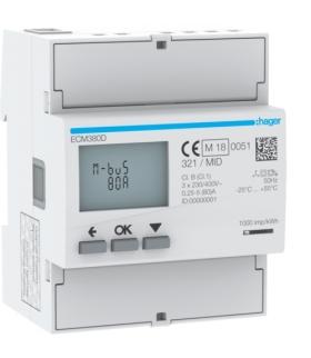 ECM380D Licznik energii elektrycznej 3-fazowy, 80A 4M, M-bus, MID Hager