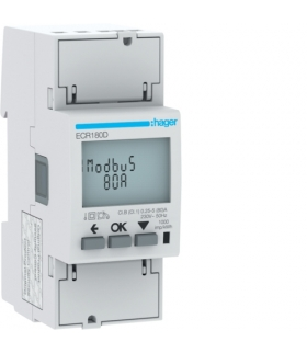 ECR180D Licznik energii elektrycznej 1-fazowy, 80A 2M, Modbus, MID Hager