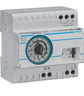 EE110 Wyłącznik zmierzchowy z zegarem analog. dobowym i czujnikiem EE003 230V 1P 16A Hager