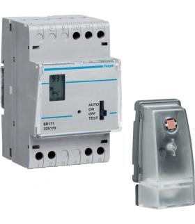 EE171 Wyłącznik zmierzchowy z zegarem cyfrowym tygodn. i czujnikiem EE003 230V 1P 16A Hager