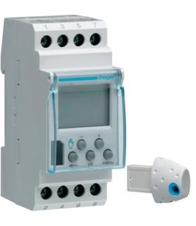 EG103D Zegar cyfrowy tygodniowy 56 kroków programowych synchronizacja DCF77 230V 1P 16A Hager