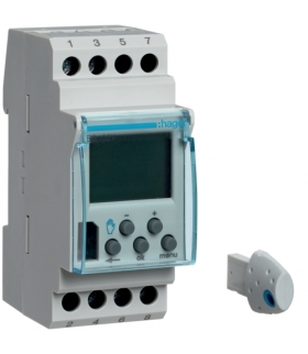 EG103V Zegar cyfrowy tygodniowy 56 kroków programowych 12-24VAC/DC+230VAC 1P 16A Hager
