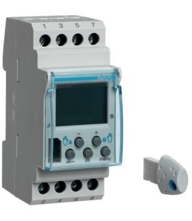 EG203E Zegar cyfrowy tygodniowy komfort 56 kroków programowych 230V 2P 16A Hager